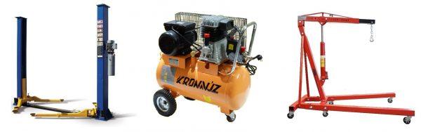 Оборудование для автосервиса СТО - подъемник, компрессор и гаражный кран