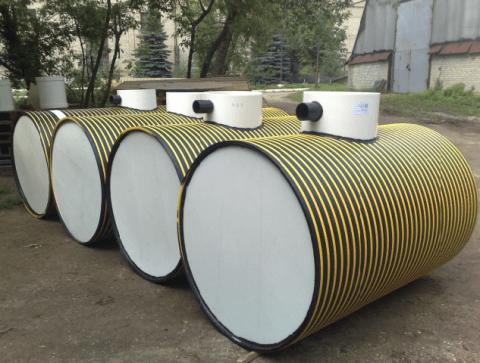 Септик Тритон с основанием из полимерной трубы большого диаметра