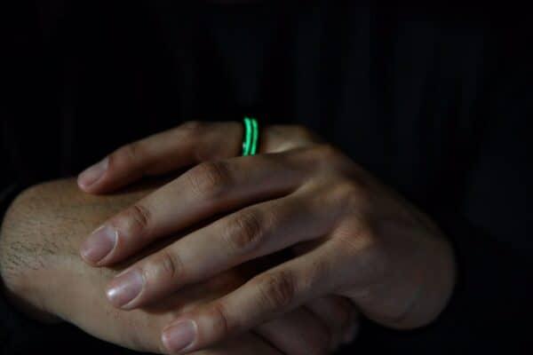 Светящиеся кольца Aurora Carbon Fiber
