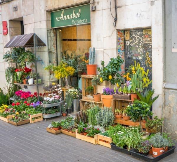 Цветочный магазин в Барселоне